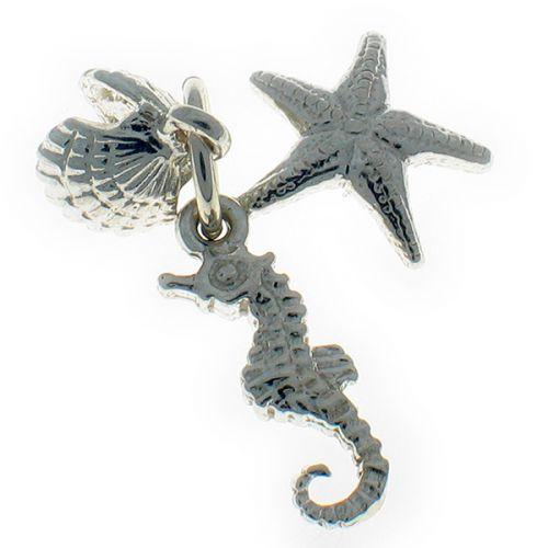 Seaside Sterling Silver Charm