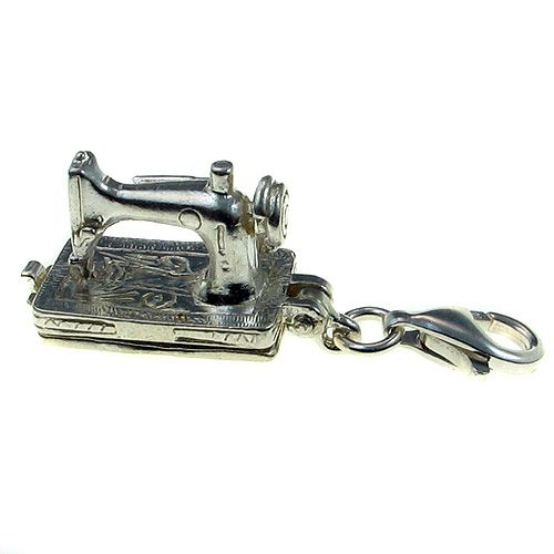 Sterling 925 Silver Charm - Sewing Machine