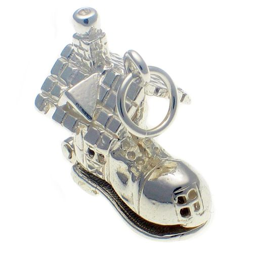 Shoe House Sterling Silver Charm