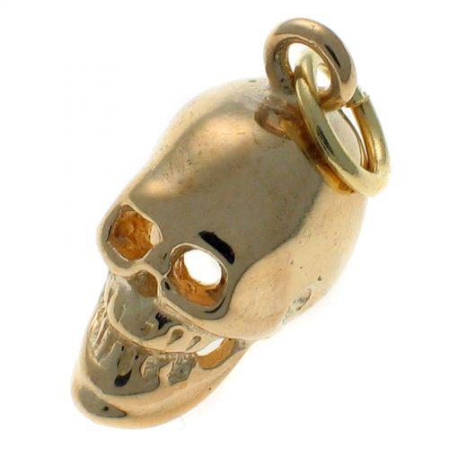 9ct Gold Skull Charm Pendant