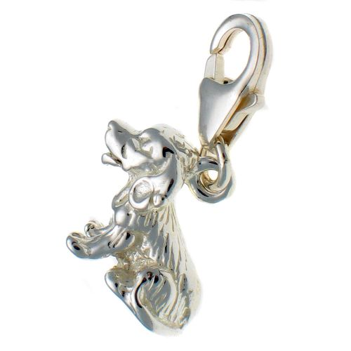 Dog Spaniel Charm Sterling Silver