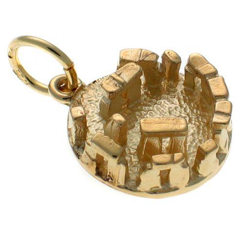 9ct Gold Stonehenge Charm Pendant