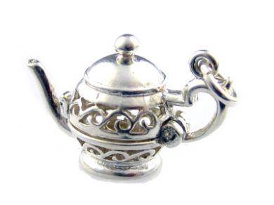 Teapot Sterling Silver Charm