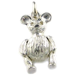 Sterling Silver Charm Fat Teddy