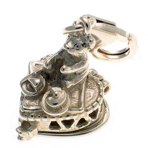 Teddy Picnic Sterling Silver Charm
