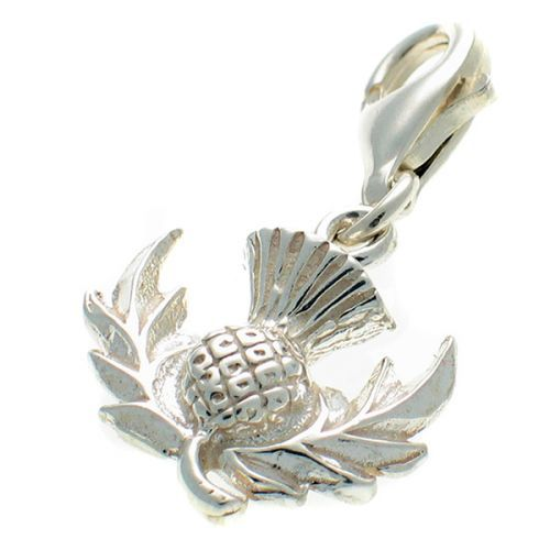 Thistle Sterling Silver Charm