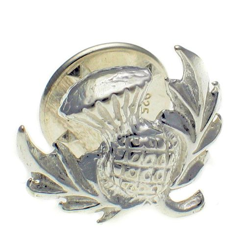 Thistle Sterling 925 Silver Lapel Pin