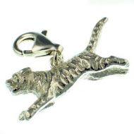 Tiger Sterling 925 Silver Charm
