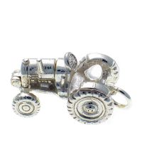 Tractor Sterling Silver Charm