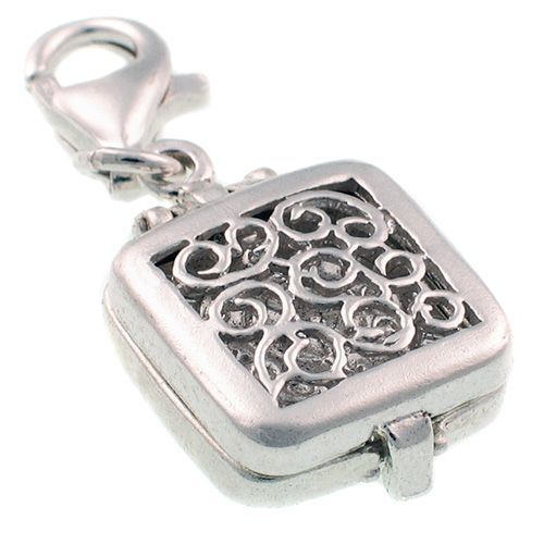 Travel Clock Sterling Silver Charm