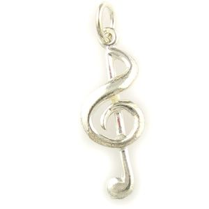 Treble Clef Sterling 925 Silver Charm