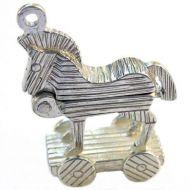 Trojan Horse Silver Charm