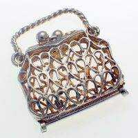 Chim Filigree Handbag Sterling Silver Charm