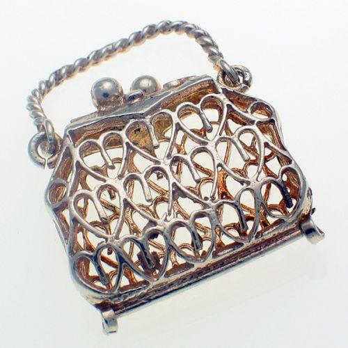 Chim Filigree Handbag Sterling Silver Charm