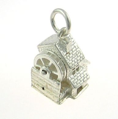 Water Mill Silver Charm