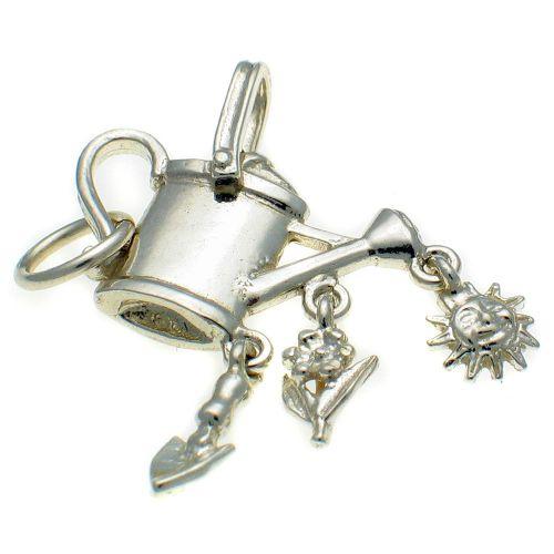 Gardener's 4 part Sterling Silver Charm