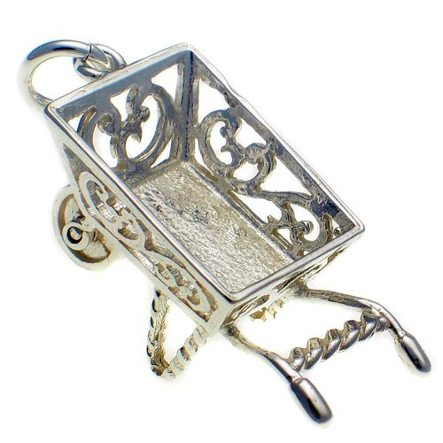 Wheelbarrow Sterling Silver Charm