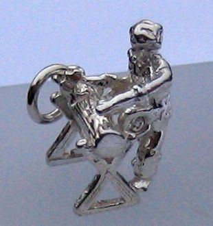 Woodcutter silver charm
